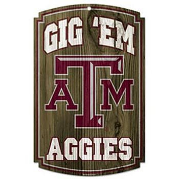 WinCraft NCAA Texas A&M University 69912091 Wood Sign, 11