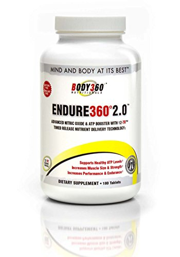 Endure360 2.0. #1 Best Nitric Oxide Booster - Ultra Premium Quality Endurance & Performance Supplement with Nitrosigine, Carnosyn Beta Alanine, ElevATP & 12-TR - Advanced Nutrient Delivery Technology. Made In The USA. Ingredients Supported By Clinical Stu