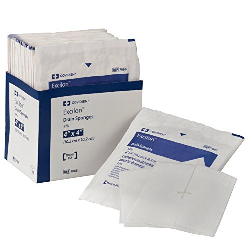 - Covidien 7086 Excilon Drain Sponge, Sterile 2's in Peel-Back Package, 4