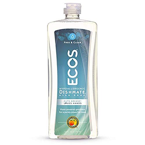 ECOS Dishmate Dish Liquid, Free and Clear 25 oz. (Pack of 10)