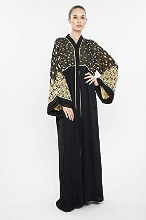 Nukhbaa Black Casual Abaya For Women