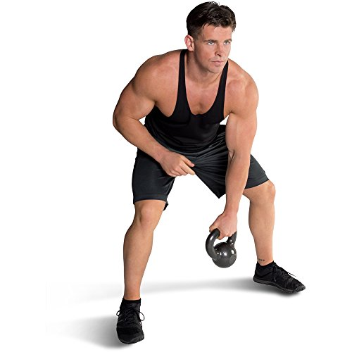 CAP Barbell Cast Iron Kettlebell Tone Fitness Weight Training and Exercise Equipment- 45lbs by CAP Barbell (Image #2)