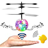 RC Flying Ball, Onedayshop Mini Drone With Music Colorful Flying RC Ball Kids Toys Infrared Induction Helicopter Crystal Flashing LED Light Flying Ball With Remote Control Mini Drone Magic RC Flying Toys for Boys Girls Kids Teenagers Adults