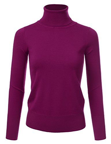 NINEXIS Women's Basic Long Sleeve Soft Turtle Neck Sweater Top for sale