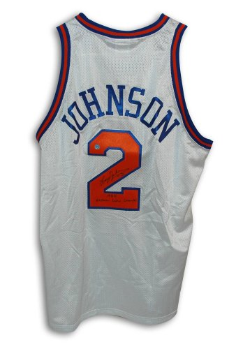 Larry Johnson New York Knicks Autographed Throwback Jersey Inscribed