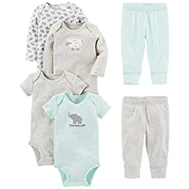 Simple-Joys-by-Carters-Baby-Girls-6-Piece-Bodysuits-Short-and-Long-Sleeve-and-Pants-Set