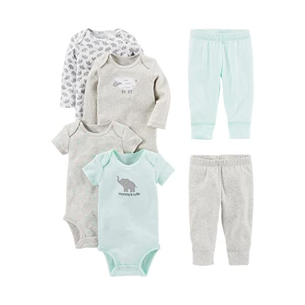 Simple Joys by Carter's Baby Girls' 6-Piece Bodysuits (Short and Long...