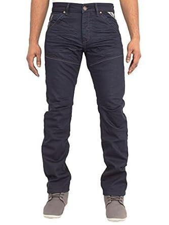 ZE Enzo Herren ENZO Designer Regular Gerades Bein blaue Jeans Hose alle  Bundweiten in 6 Farben