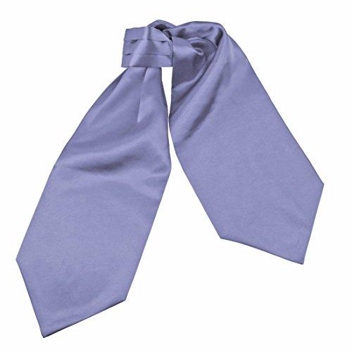 Goods Cravat Light Purple Handmade Formal Wear Solid Mens Microfiber Ascot Xmas Gift Idea for Father By Dan Smith (Xmas Necktie)