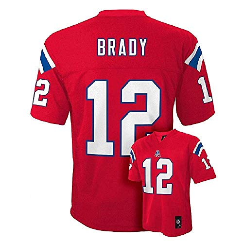 Tom Brady New England Patriots Alt Red NFL Kids 2013-14 Season Mid-tier Jersey (Kids 5/6)