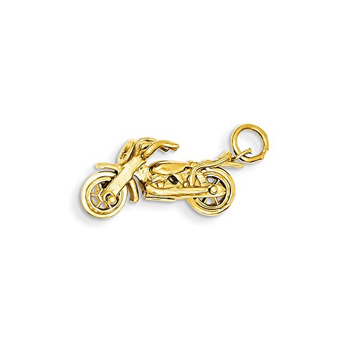 14k Motorcycle Charm by Saris and Things