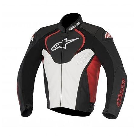 Black//White, EU 52 Alpinestars Mens Jaws Leather Jacket