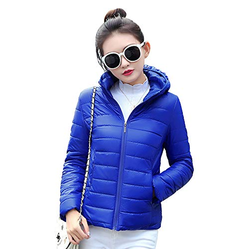 Outdoor Down Hooded Jacket Outerwear Short Womens Coat Blue Size Plus Jacket XFentech Fashion wq4fxgBC