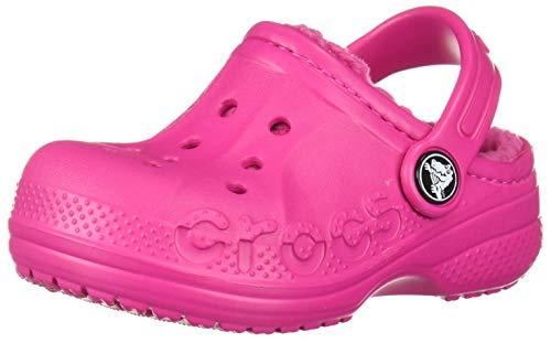 Crocs Kids' Baya Lined Clog, Candy Pink/Candy Pink, 10 M US Toddler (Crocs Boys Toddler Lined)