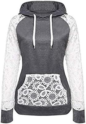 Mujer Blusa sudaderas tops otoño manga larga casual urbano streetwear,Sonnena Sudadera con capucha para mujer de manga larga Jersey con capucha Blusas