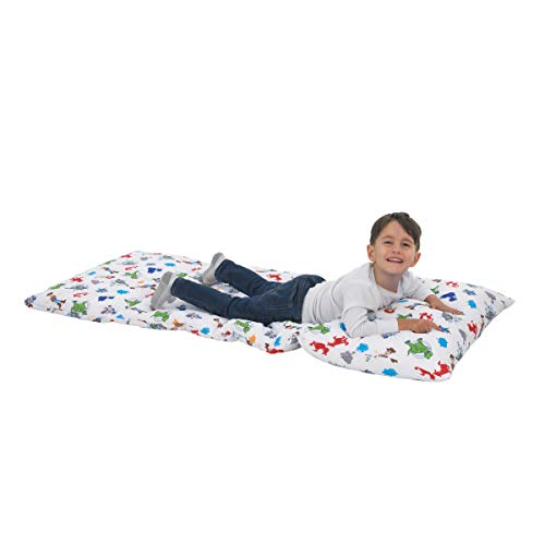 Disney Toy Story 4 - Blue, Green, Red & White Deluxe Easy Fold Toddler Nap Mat, Blue, Green, Red, White (Bag Sleeping Story Toy)