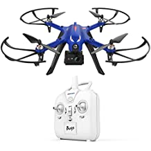 DROCON Blue Bugs Gift Drone for Your Big Boy,18 minutes Flying Time MJX Bugs 3 Quadcopter Support Gopro HD Camera, 300 m Control Distance