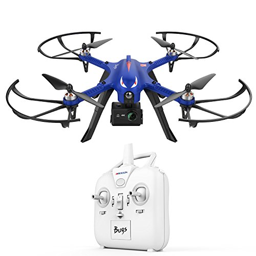 DROCON Blue Bugs Brushless Drone Supports Gopro Action Cameras 500 Meters Long Control Range and Long Flying Time ,The Advanced Special Gift Quadcopter MJX Bugs 3 Drone for the Man You Cherish