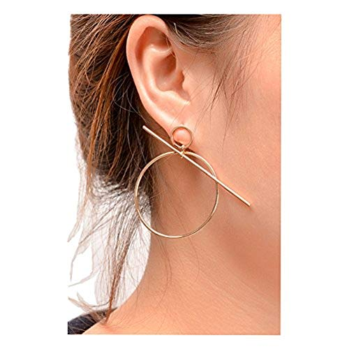 A&J. Womens Punk Club Geometric Dangle Circle Loop Earrings Alloy Drop Earrings