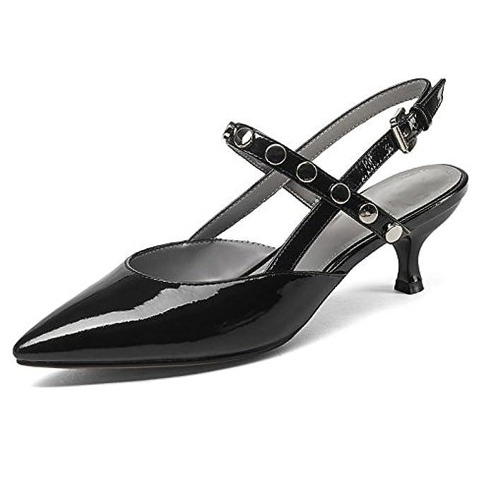 Scarpe E Borse Da Donna Col Tacco Sandali A Punta Rivetti Raffinato Moda Selvaggia Vestito