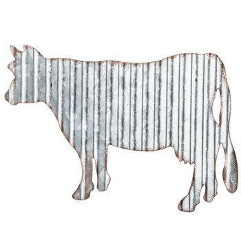 Corrugated Metal Cow Wall Farmhouse or Farm (Cow Decor)