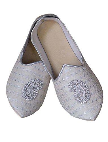 INMONARCH Bodas de Plata Hombres Zapatos Bordado Paisley MJ0782