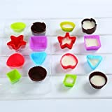 FMY Set of 16 Bakeware Muffin Cup Baking Molds for Chocolate Cake Jelly (Random Colors)