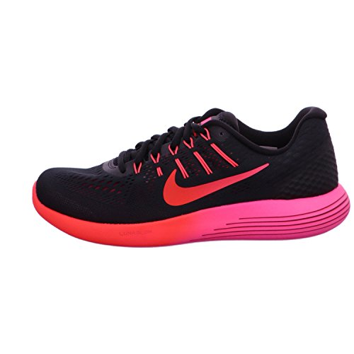 Nike Womens Wmns Lunarglide 8, Zwart / Multi-color-noble Rood, 5 Us
