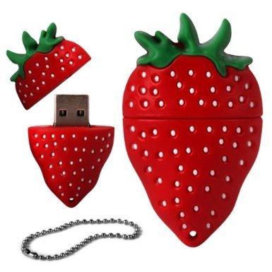 Hotsaleglobal 4GB Novelty Cute Strawberry USB 2.0 Flash Drive Data Memory Stick Device