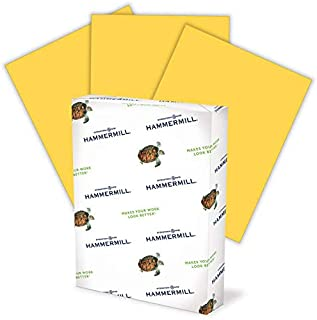 product image for Hammermill Colored Paper, 20 lb Goldenrod Printer Paper, 8.5 x 11-1 Ream (500 Sheets) - Made in the USA, Pastel Paper