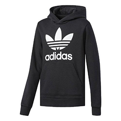 adidas Boys Originals Trefoil Hoodie (Black/White, L)