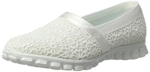 White 2 Skechers Believe Make Ez Women's Slippers Wht Flex vvwU0a