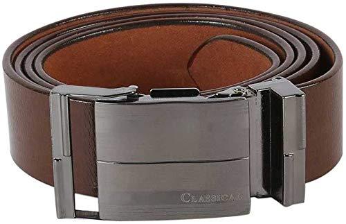 Men's Leather Belt (S94_Brown)