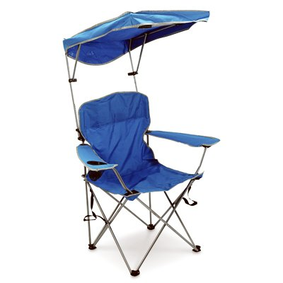 - Bravo Sports 149578 Four Seasons Courtyard Shade Chair with Canopy and Carry Case, Red Polyester