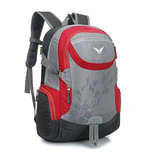ZC&J Bolsa de hombro de escalada al aire libre, bolsa de viaje de capacidad de 30 litros, material de nylon al aire libre sólido desgaste hombres y mujeres multifuncionales bolsa de hombro universal,D A
