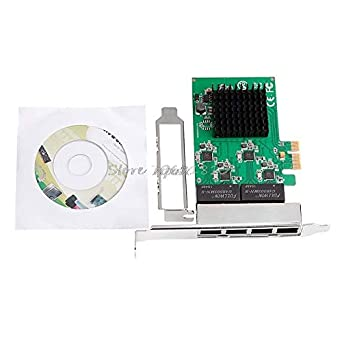 Amazon.com: 10/100/1000M PCI-E PCI Express to 4X Gigabit Card 4 Port Ethernet Network Adapter: Industrial & Scientific