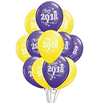 DalvayDelights Yellow & Purple Class 2018 Graduation Grad 11