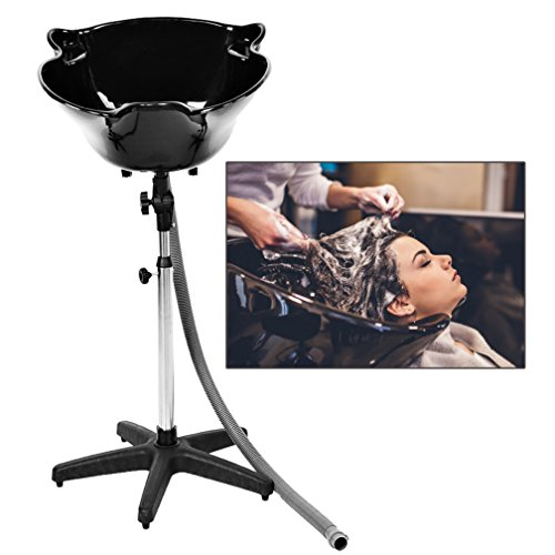 Portable Height Adjustable Shampoo Basin Hair Treatment Bowl Salon Tool Black (Best Salon Shampoo For Thin Hair)