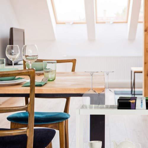 Relaxdays Carrito Cocina con 3 Niveles, Bambú, Blanco, 76.5 x 58 x 30 cm: Amazon.es: Hogar