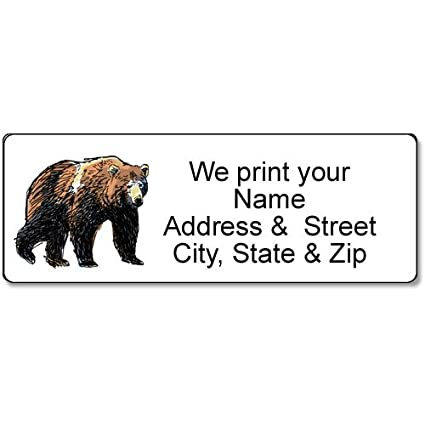 amazon com bear address label customized return address label