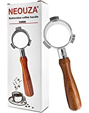 NEOUZA Espresso Coffee Bottomless Portafilter Distributor & Tamper Dual Head for 54mm Breville 870/875/878/880, roestvrij staal