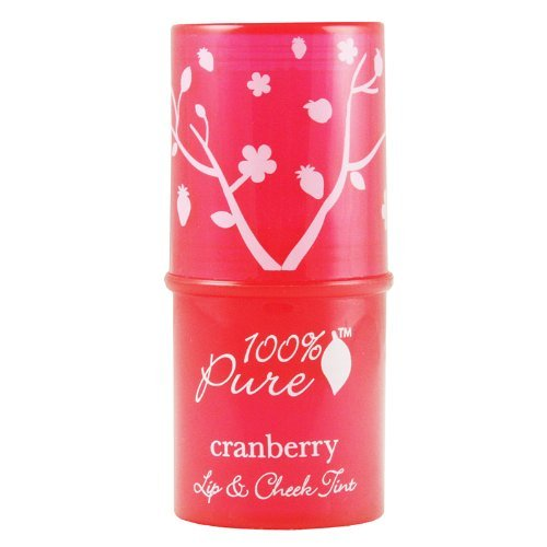 100% Pure Lip Stain, Cranberry Glow, 0.26 Ounce