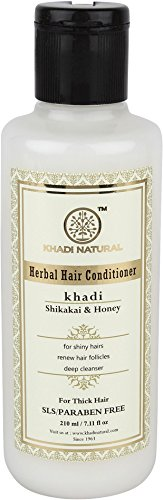 Price comparison product image Khadi Natural Herbal Shikakai and Honey Conditioning Conditioner for all Hair Types SLS and Paraben Free (210 ml)