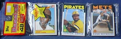 1986 Topps Baseball Card Rack Pack - 48 Cards - Factory Sealed