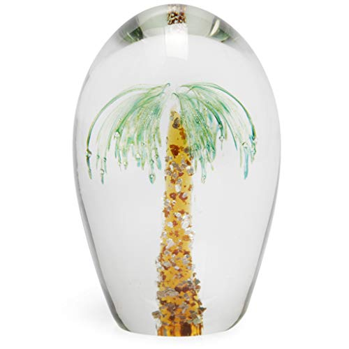 Palm Tree Glass Paperweight