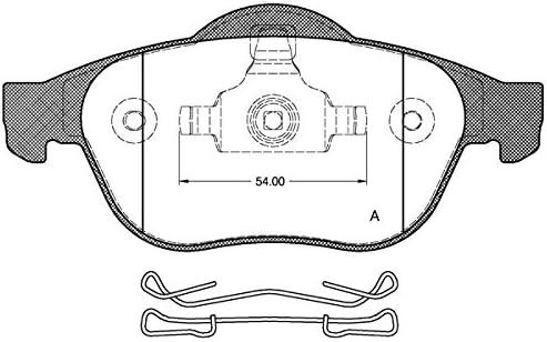 4 Pi/èces Open Parts BPA1219.00 Plaquette de Frein Avant