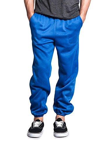 G-Style USA Men's Elastic Cuff Fleece Sweatpants - HILLSP - ROYAL BLUE - Large - GG1H