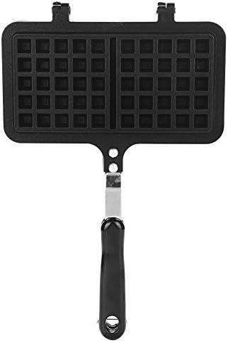 Ichiias Waffelbackform Dual Head Haushaltsküche Gas Antihaft-Waffeleisen Pfannenform Pressplatte Backwerkzeug
