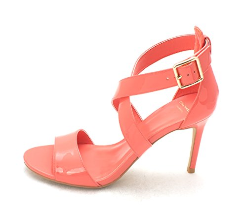 Cole Haan Womens 14A4061 Open Toe Casual Ankle Strap Sandals Coral Flame OEyu9gfL