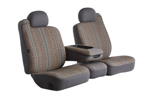 Fia TR48-16 GRAY Custom Fit Front Seat Cover Split Seat 40/20/40 - Saddle Blanket, (Gray)